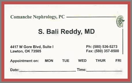 Comanche Nephrology New