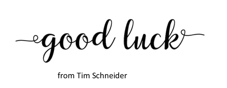 GL from Tim Schneider
