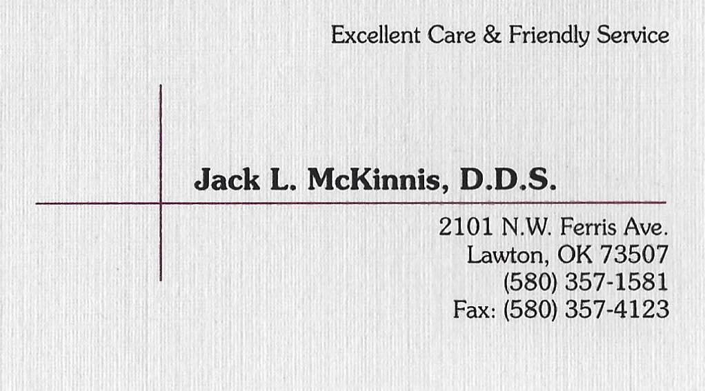 Jack L. McKinnis. D. D. S